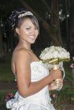 Lycklig bröllopbrud Arkivbilder