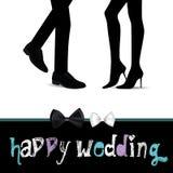 Lycklig bröllopförälskelse stock illustrationer