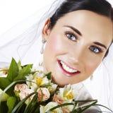 lycklig brud Fotografering för Bildbyråer