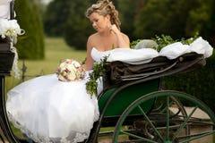 lycklig brud Royaltyfri Foto