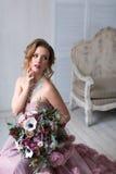 lycklig brud Mode Royaltyfri Foto