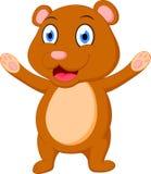Lycklig brunbjörntecknad film Royaltyfria Foton