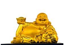 lycklig buddha guld Royaltyfri Fotografi