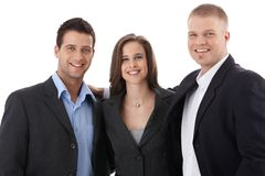 Lycklig businessteam Arkivbild