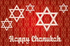 Lycklig Chanukkah - Chanukkahkort Arkivfoto