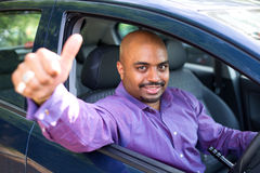 lycklig chaufför Royaltyfri Fotografi