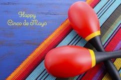 Lycklig Cinco de Mayo bakgrund Arkivbild