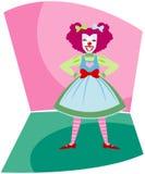 lycklig clown Arkivfoton
