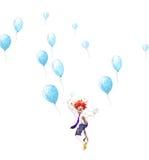 Lycklig clown Arkivfoto