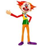 Lycklig clown Illustration Arkivfoton