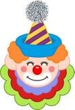 Lycklig clownframsida Royaltyfri Foto