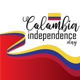 Lycklig Colombia självständighetsdagenvektor royaltyfri illustrationer