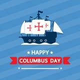 Lycklig columbus dag för designeps för 10 bakgrund vektor för tech Royaltyfri Bild