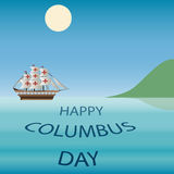Lycklig Columbus Day Vector illustration Arkivbilder