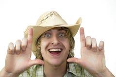 lycklig cowboy Royaltyfri Fotografi