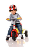 lycklig cyklist Arkivfoton