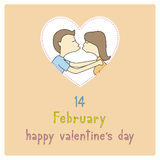 Lycklig dag card10 för valentin s Royaltyfri Fotografi