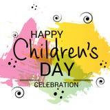 Lycklig dag för barn` s royaltyfri illustrationer