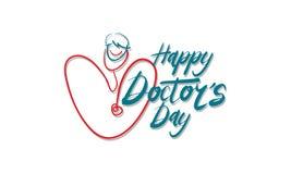 Lycklig dag för doktors` s stock illustrationer