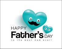 Lycklig dag för fader` s vektor illustrationer