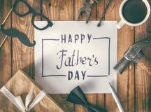 Lycklig dag för fader` s arkivfoto