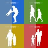 Lycklig dag för fader` s royaltyfri illustrationer