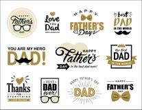 Lycklig dag för fader` s stock illustrationer