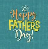 Lycklig dag för fader` s Retro utformad kalligrafidesign Royaltyfri Bild