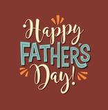 Lycklig dag för fader` s Retro utformad kalligrafidesign Royaltyfri Fotografi