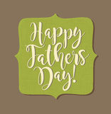 Lycklig dag för fader` s Retro utformad kalligrafidesign Arkivfoto