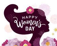 Lycklig dag för kvinna` s vektor illustrationer