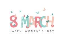 Lycklig dag för kvinna` s stock illustrationer