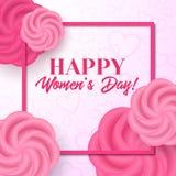 Lycklig dag för kvinna` s kortdaghälsningen irises vektorn för moder s