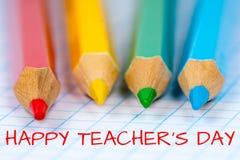 Lycklig dag för lärare` s Arkivbilder