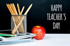 Lycklig dag för lärare` s Arkivbild