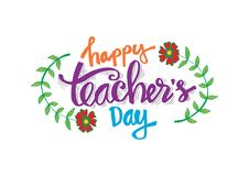 Lycklig dag för lärare` s royaltyfri illustrationer