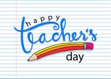 Lycklig dag för lärare` s stock illustrationer