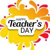 Lycklig dag för lärare` s vektor illustrationer
