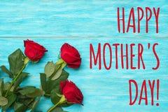 Lycklig dag för moder` s! fotografering för bildbyråer