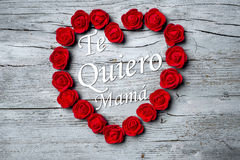 Lycklig dag för moder` s spanskt språk Royaltyfria Bilder
