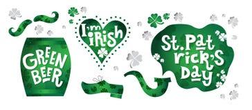 Lycklig dag för St Patrick ` s royaltyfri illustrationer