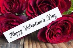 Lycklig dag för valentin` s hälsningkort Royaltyfria Bilder
