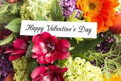 Lycklig dag för valentin` s hälsningkort Royaltyfri Bild