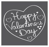 Lycklig dag för valentin` s! Hand dragen hjärtaform II Royaltyfri Fotografi
