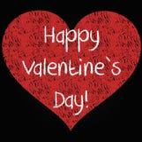 Lycklig dag för valentin` s hjärta - teckning med krita Royaltyfri Foto