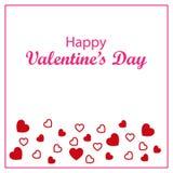 Lycklig dag för valentin` s med olika hjärtor också vektor för coreldrawillustration Royaltyfri Foto
