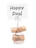 Lycklig dag - hälsningar för valentin, bröllop eller födelsedag Fotografering för Bildbyråer