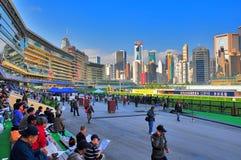 Lycklig dalracecourse, Hong Kong Royaltyfri Fotografi