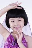 lycklig dansflicka little Arkivbilder
