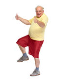 Lycklig dansgamal man royaltyfria foton